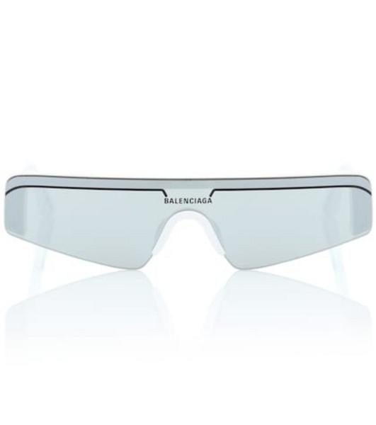Balenciaga Ski rectangle sunglasses in white