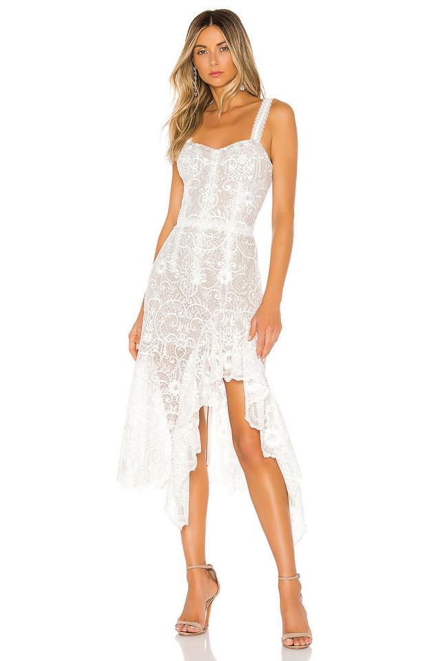Bronx and Banco Tiffany Blanc Dress in white