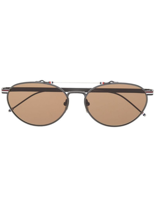 Thom Browne Eyewear round frame sunglasses in black