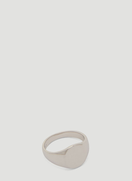 Tom Wood Mini Oval Ring in Silver size FR - 52