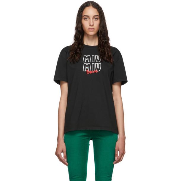 Miu Miu Black Miu Miu Forever T-Shirt