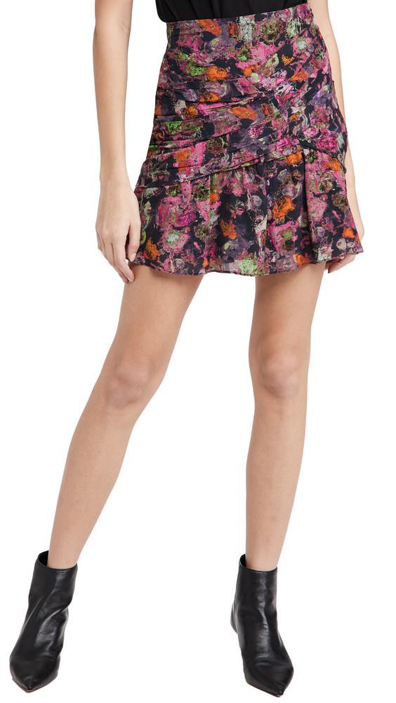 IRO Nuada Skirt in black / pink