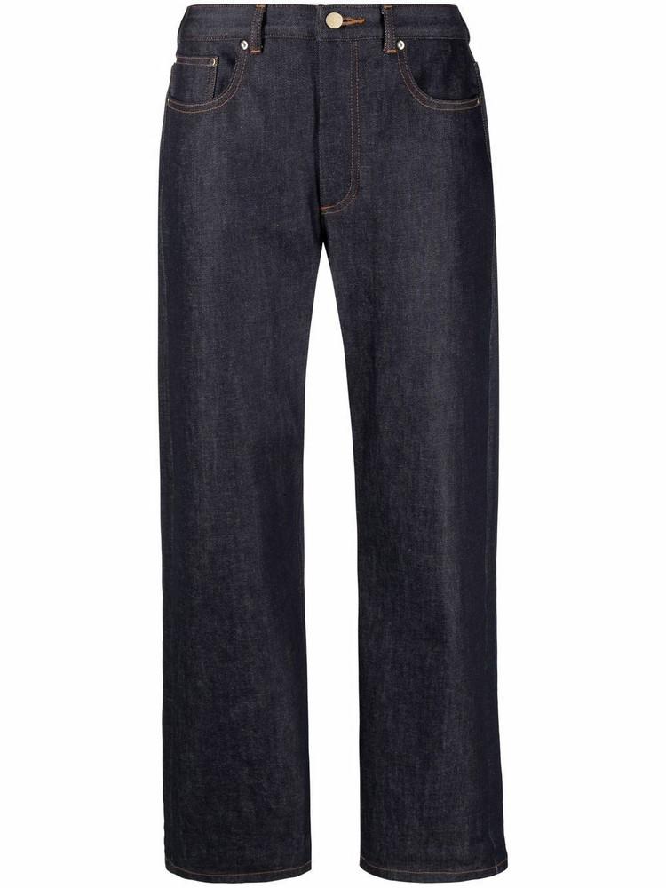 A.P.C. A.P.C. dark-wash straight-leg trousers - Blue