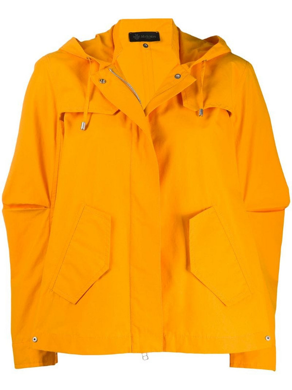 Mr & Mrs Italy hooded jacket in yellow