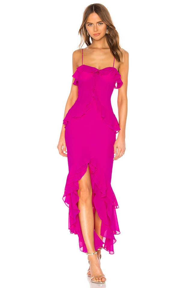 Lovers + Friends Melissa Gown in pink