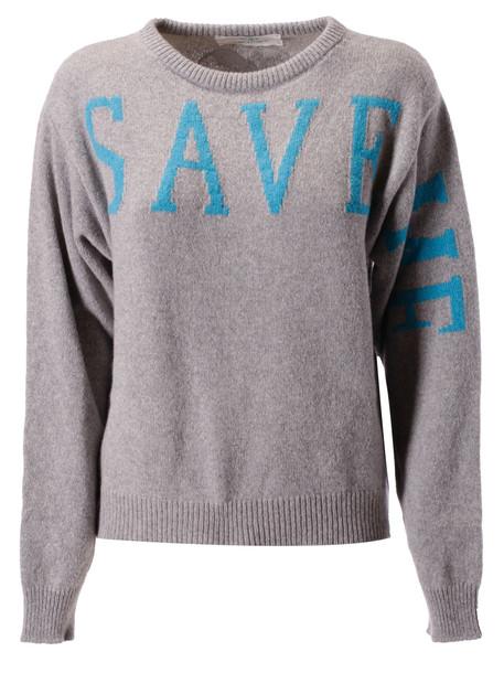 Alberta Ferretti Save Me Sweater in gray