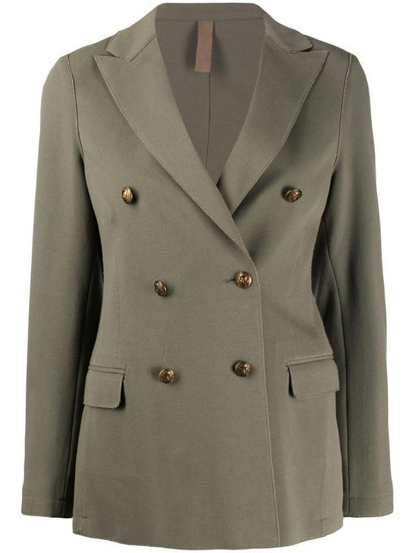 Eleventy double-breasted decorative buttoned blazer in green