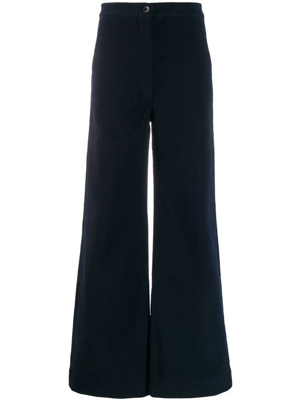 Katharine Hamnett London Anna moleskin trousers in blue