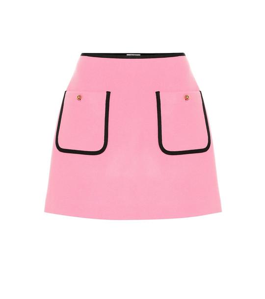 Miu Miu Wool miniskirt in pink