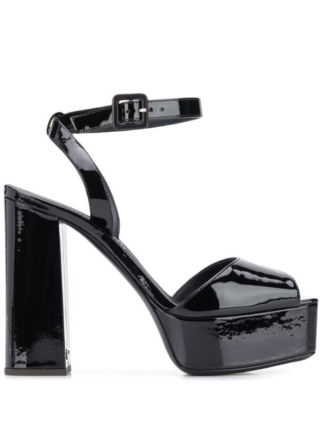 Giuseppe Zanotti open toe platform sandals in black