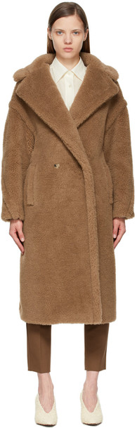 Max Mara Brown Teddy Bear Icon Coat in camel