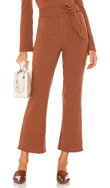 Song of Style Ines Knit Pant in Chocolate in brown