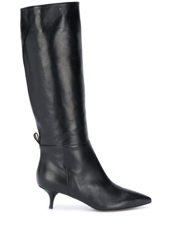 L'Autre Chose kitten-heel knee boots in black