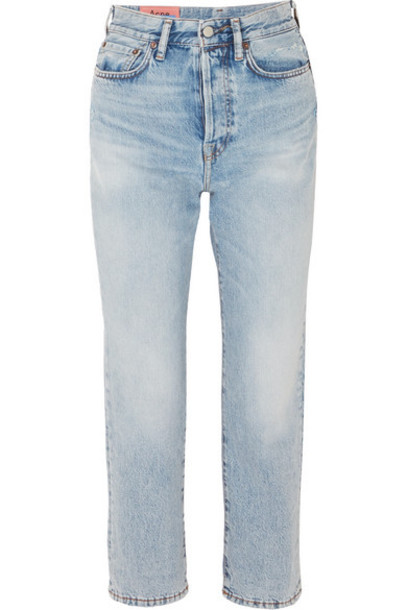 Acne Studios - Cropped High-rise Straight-leg Jeans - Mid denim