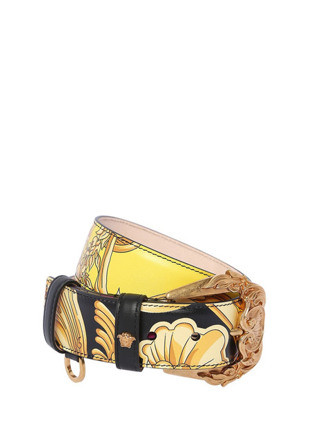 VERSACE 40mm Printed Leather Belt