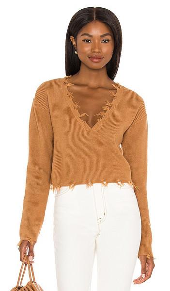 Lovers + Friends Lovers + Friends Prospect Sweater in Tan in camel