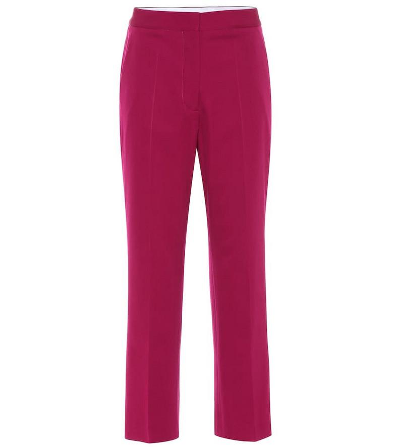 Stella McCartney Carlie high-rise slim pants in purple