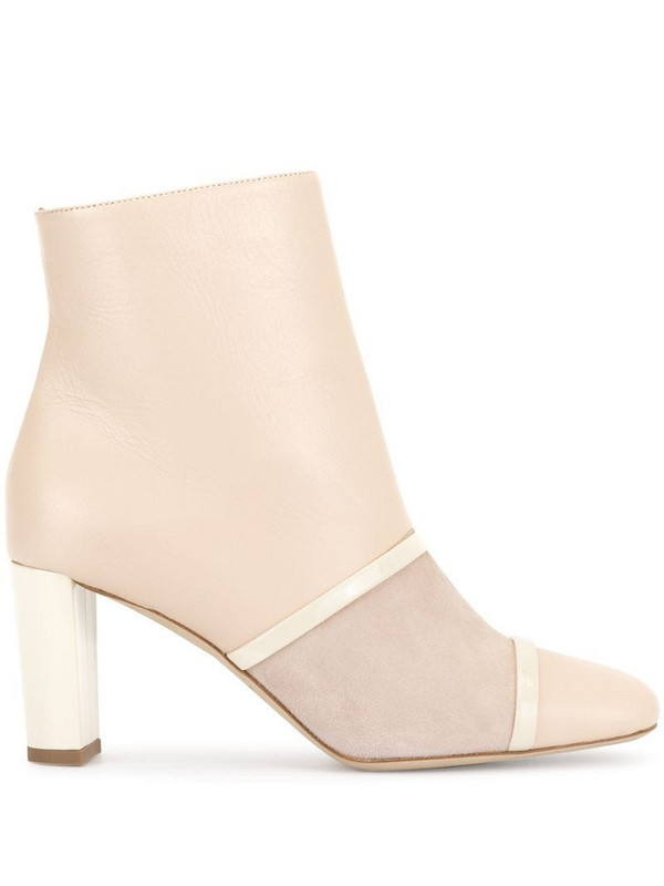 Malone Souliers Dakota panelled ankle boots in neutrals