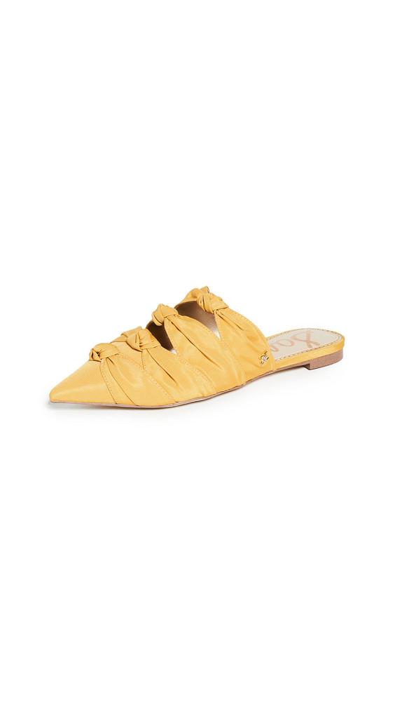 Sam Edelman Shanti Mules in gold