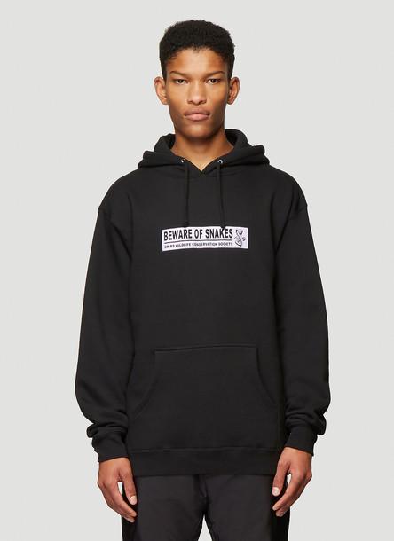 Bone Soda Beware Of Snakes Hooded Sweatshirt in Black size S