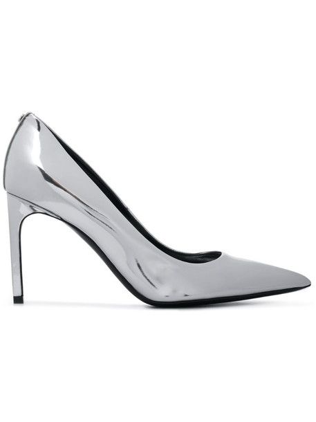 Tom Ford patent pumps in silver
