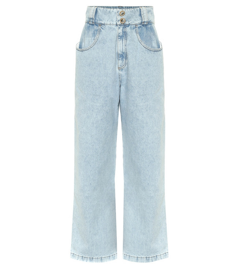 Alessandra Rich High-rise wide-leg jeans in blue