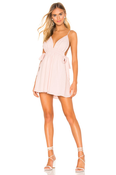 superdown Laney Ruched Mini Dress in pink