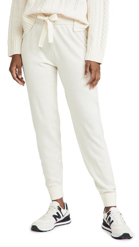 Ninety Percent Merino Track Pants in white