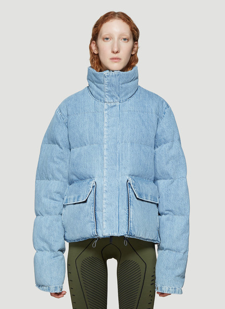 Unravel Project Denim Puffer Jacket in Blue size S