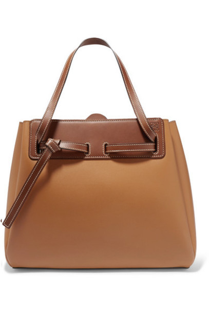 Loewe - Ruk Two-tone Leather Tote - Tan
