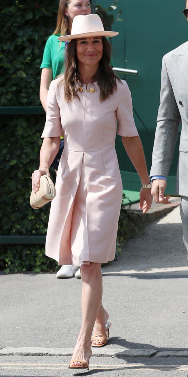 dress pastel pastel pink pippa middleton celebrity midi dress baby pink