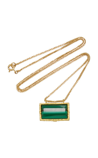 Orit Elhanati Roxy Green Eye 18K Gold Malachite Necklace