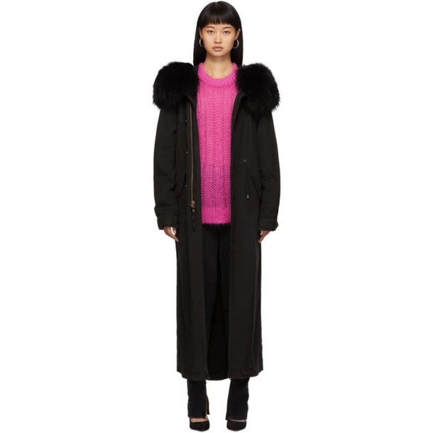 Mr and Mrs Italy SSENSE Exclusive Black Fur Long Jazzy Coat