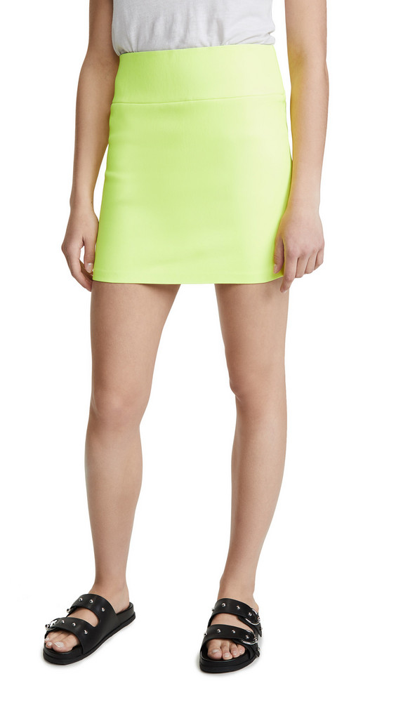 SPRWMN Leather mini skirt in green