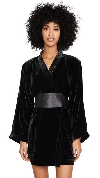Alexa Chung Kimono Dress in black