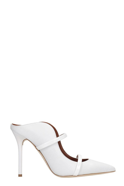 Malone Souliers Maureen 100 Pumps In White Leather