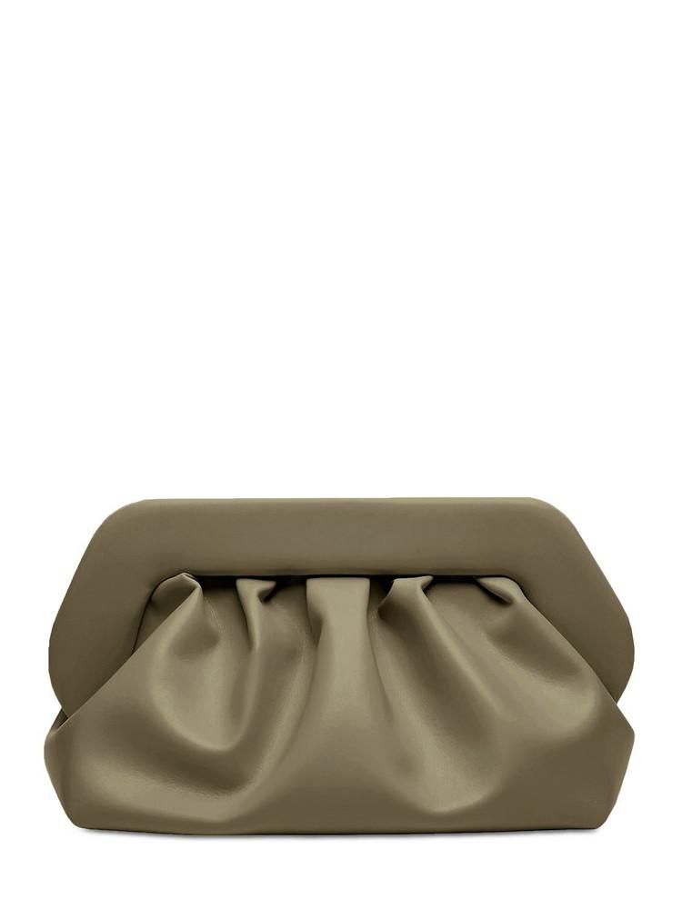 THEMOIRÈ Bios Faux Leather Clutch in mushroom