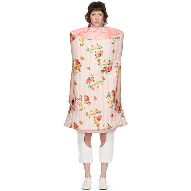 Comme des Garcons Pink Pleated Taffeta Dress