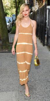 dress,kate bosworth,midi dress,summer dress,celebrity,make-up