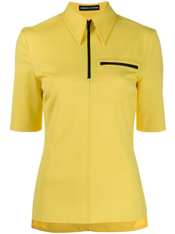 Kwaidan Editions slim fit polo shirt in yellow