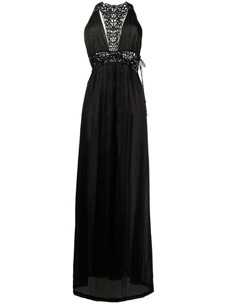 La Perla empire line beach dress in black