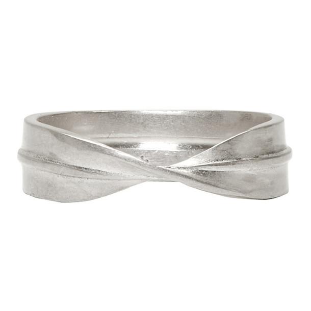 Maison Margiela Silver Twist Ring