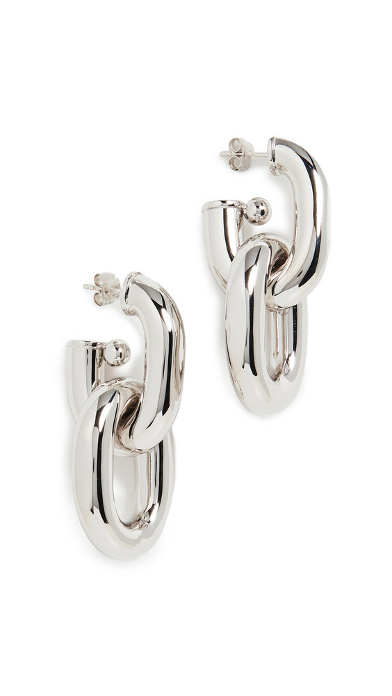 Paco Rabanne XL Link Hoop Earrings in silver