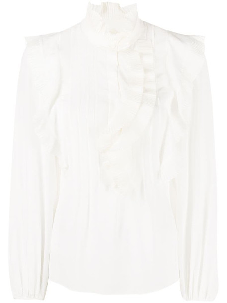 Chloé ruffled blouse in white