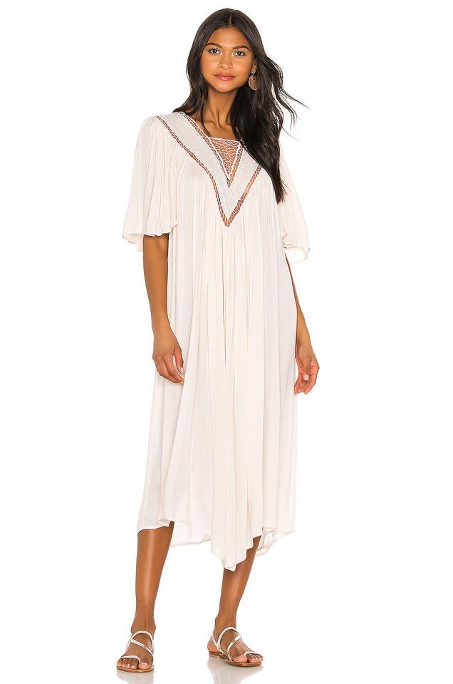 Indah Cynthia Kerawang Dress in cream
