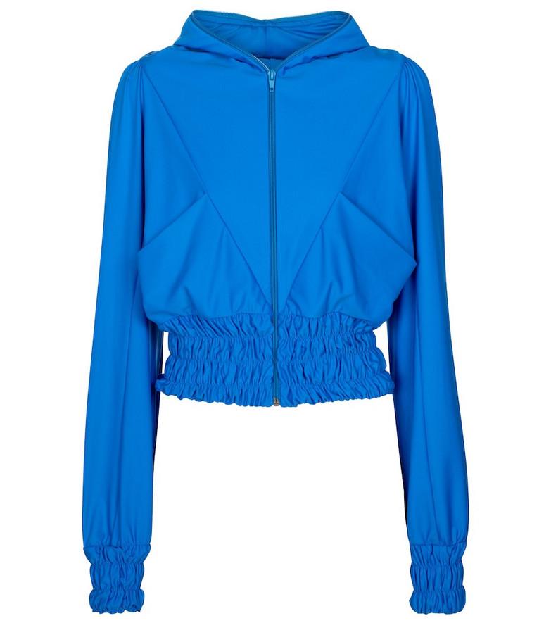 Marine Serre Exclusive to Mytheresa – Smocked track jacket in blue