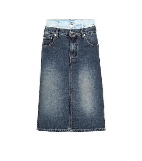 Maison Margiela Layered denim skirt in blue