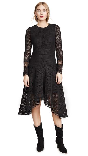 See by Chloe Crochet Dress in black
