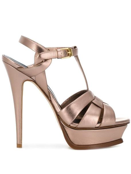 Saint Laurent Tribute sandals in pink