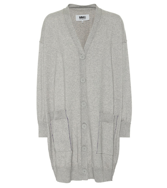 MM6 Maison Margiela Cotton and cashmere cardigan in grey
